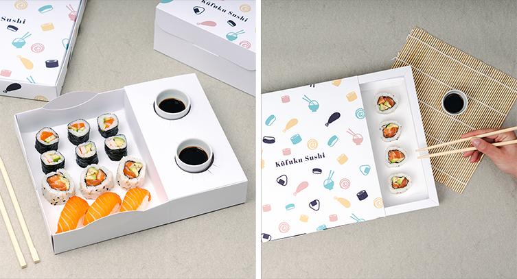 Pappkartons für Sushi