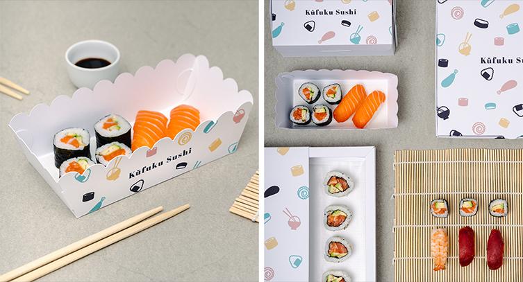 Dosen in verschiedenen Größen für Sushi