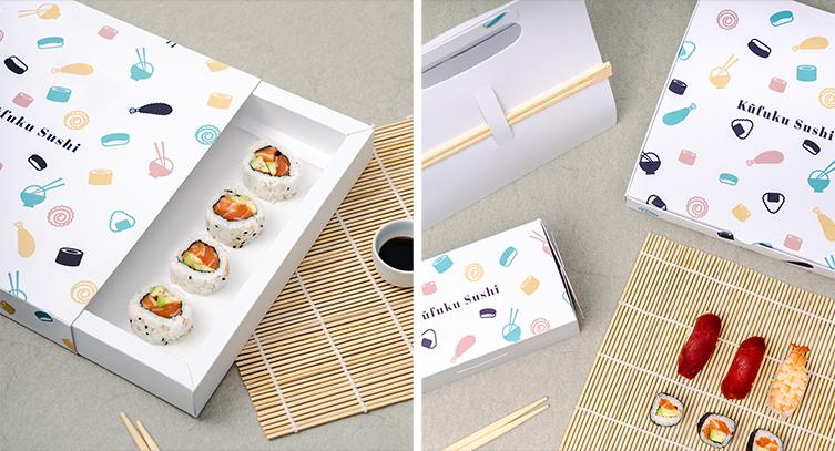 Boxen für Sushi