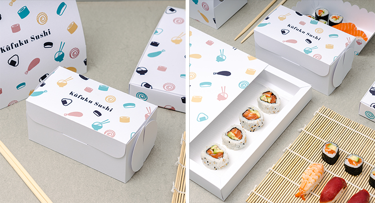 individuell bedruckte Sushi-Boxen